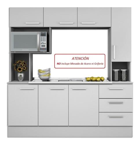 mueble alacena kit de cocina compacta gran capacidad rafaela