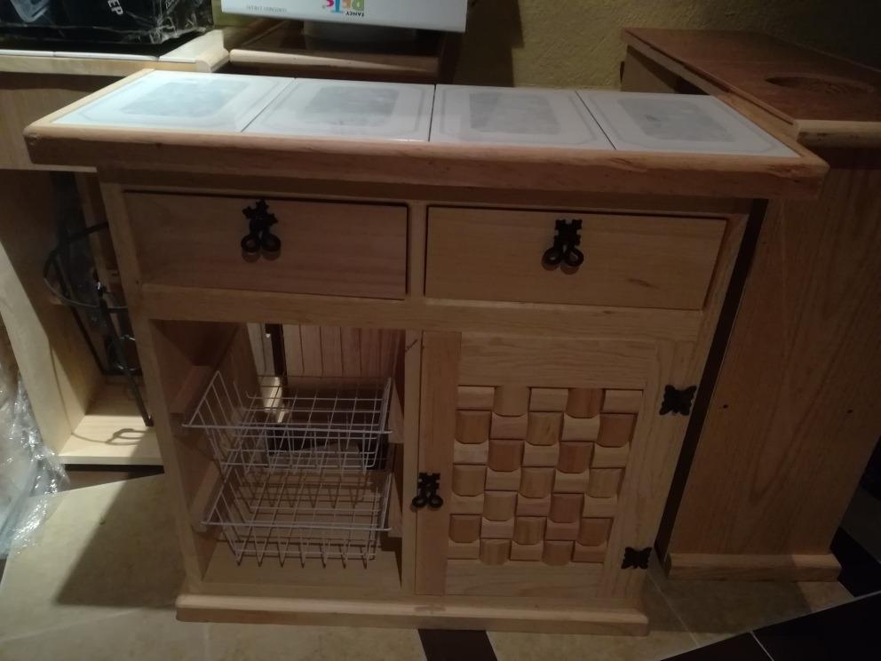 Mueble alacena para cocina 80x80x30 mesa loseta al natural 1 en mercado libre - Muebles al natural ...