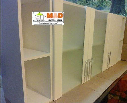 Mueble alacena repostero cocina melamina blanca 160 cm s for Muebles de cocina 60 cm