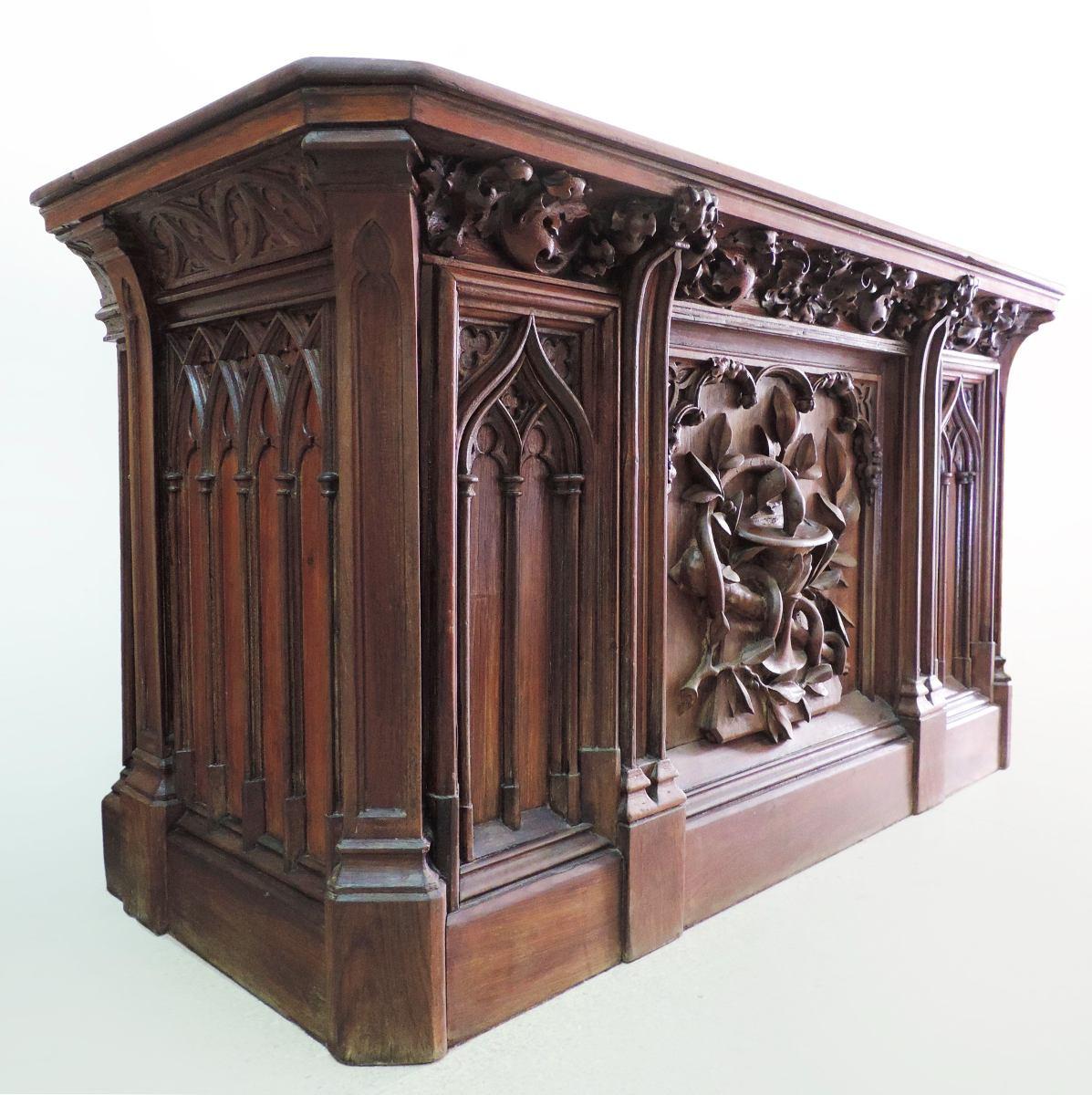 Mueble Bar Antiguo Pintado Con Pintura A La Tiza Y Patinas  # Muebles Goticos