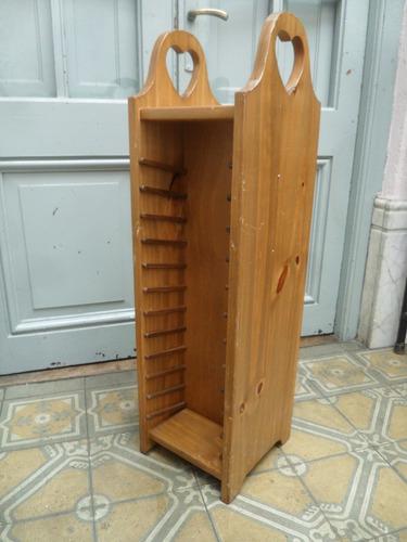 mueble archivador de madera  24 x 24 altura 84 cm