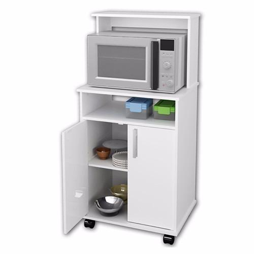 Mueble auxiliar 2 puertas microondas cocina casalista for Mueble cocina microondas