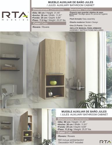mueble auxiliar de baño jules rovere