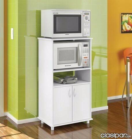 Mueble auxiliar de melamina 18mm para cocina en color for Muebles auxiliares de cocina