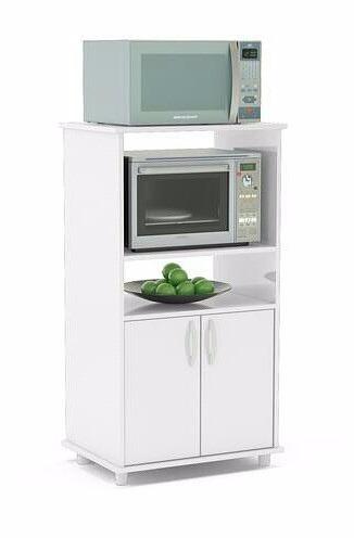 Mueble auxiliar de melamina 18mm para cocina en color blanco s 290 00 en mercado libre - Muebles auxiliares para microondas ...