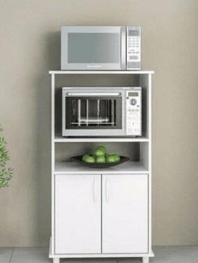 Mueble Auxiliar De Melamina 18mm Para Cocina En Color Blanco - S ...