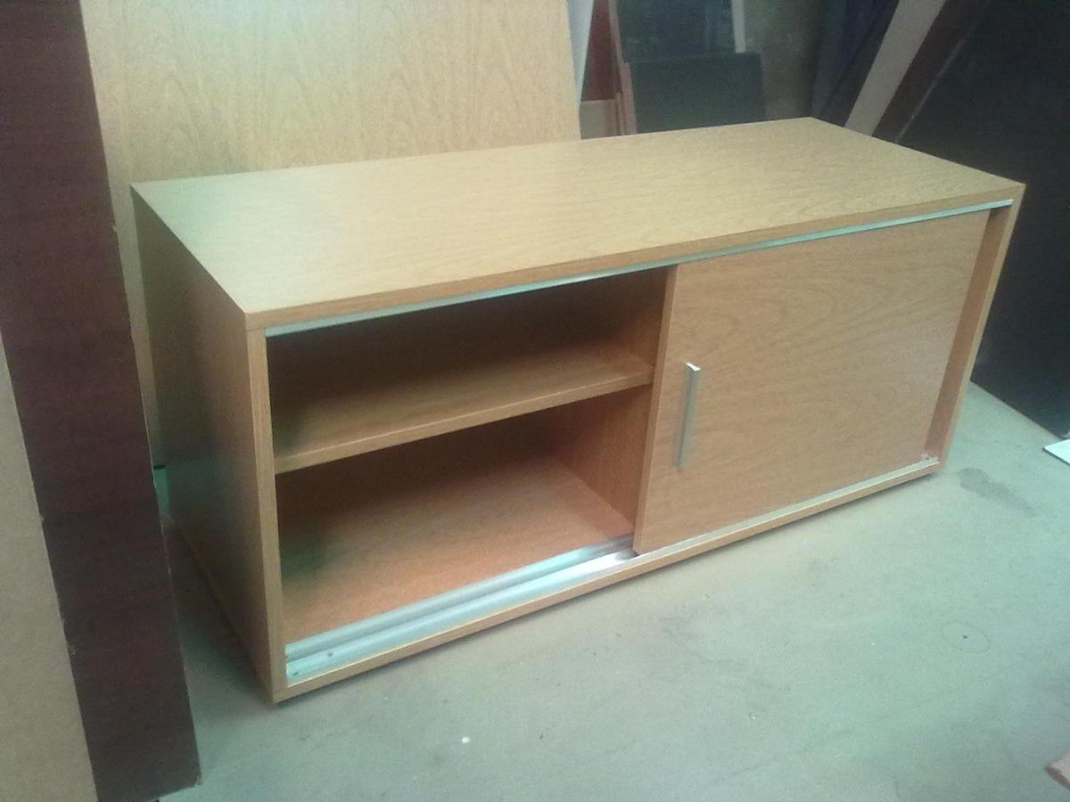 mueble bajo con puertas corredizas m melamina mm with hacer un mueble de bao - Puerta Corredera Bao