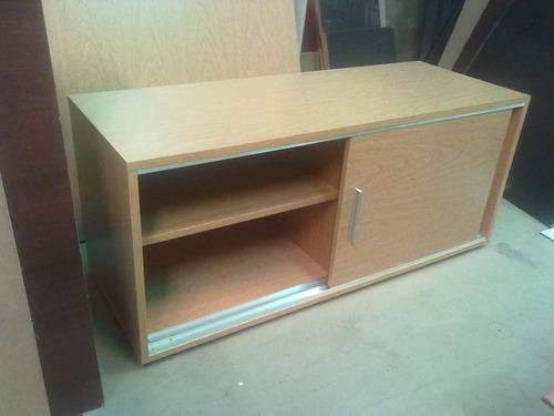 mueble bajo con 2 puertas corredizas - 1,36m - melamina 18mm