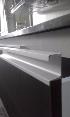 mueble bajo con perfil de aluminio + mesada / 1,50 m.