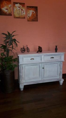 mueble bajo estilo vintage