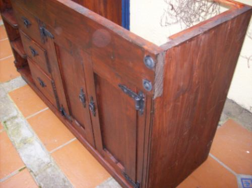 Mueble bajo mesada de ba o ptas cajones y estante en mercado libre - Altura mueble bano ...