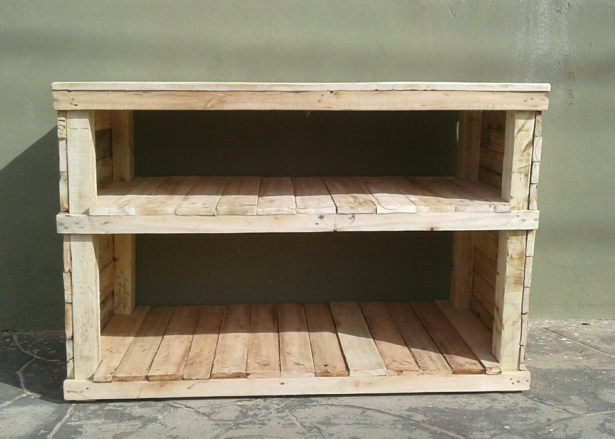 Mueble Bajo Mesada Mesa Auxiliar Cocina Madera Recuperada - $ 1.250 ...