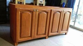 Mueble Bajo Mesada Para Cocina En Madera Maciza Rústica