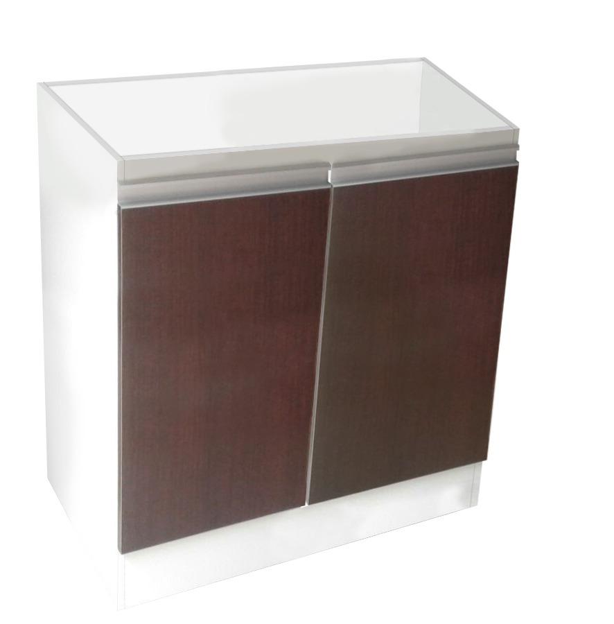 Mueble bajo para cocina de 0 60 m con perfil de aluminio for Perfiles aluminio para muebles