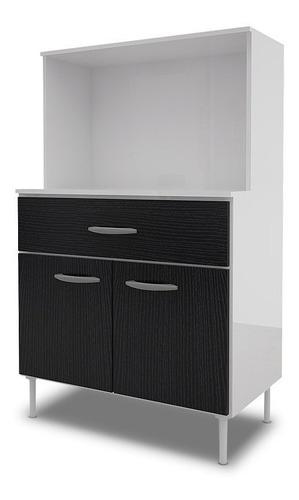 mueble bajo para microondas 2 puertas 1 cajon dl 630 blanco