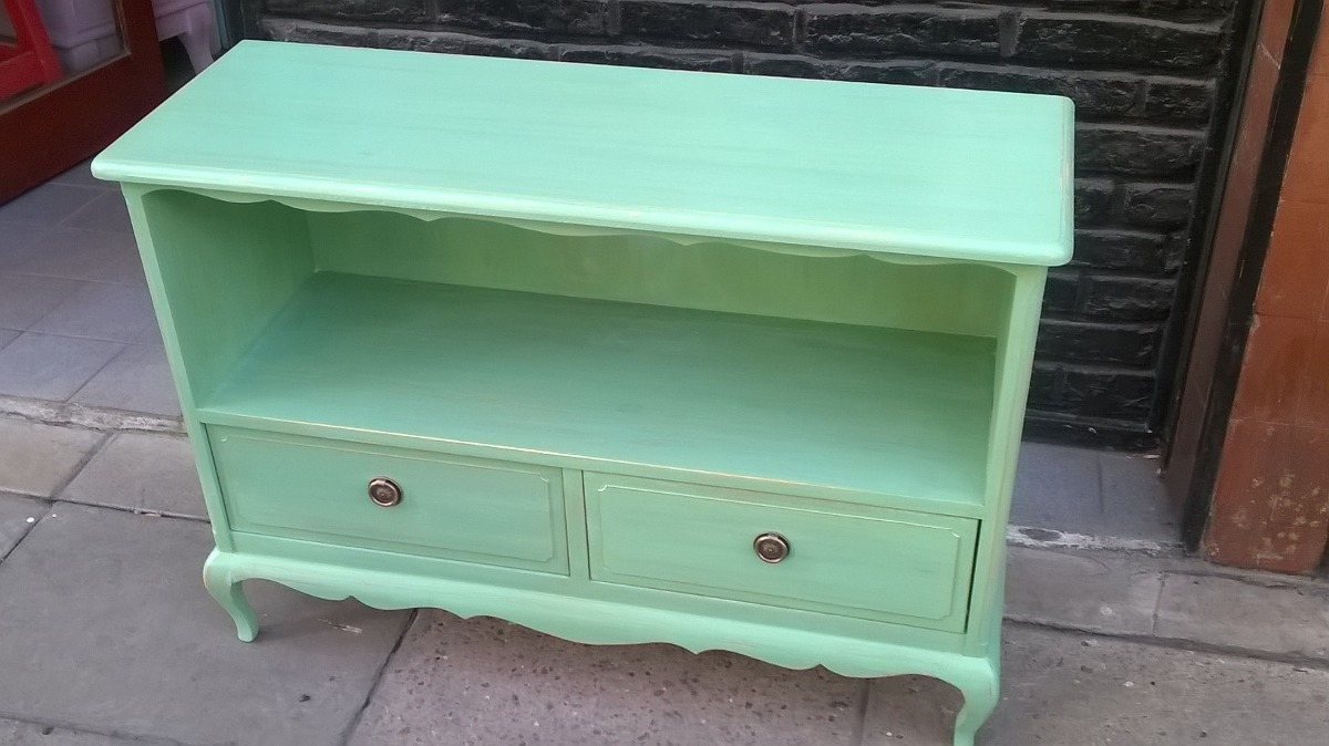 Mueble Bajo Para Tv Lcd Tipo Vintage Estilo Luis Xv 5 800 00  # Muebles Gastados