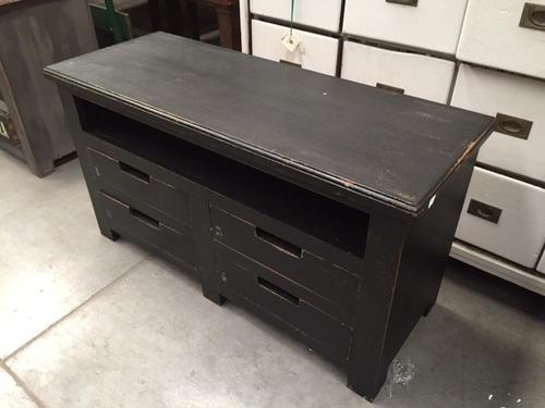 mueble bajo tv cajonera aparador campo madera vintage