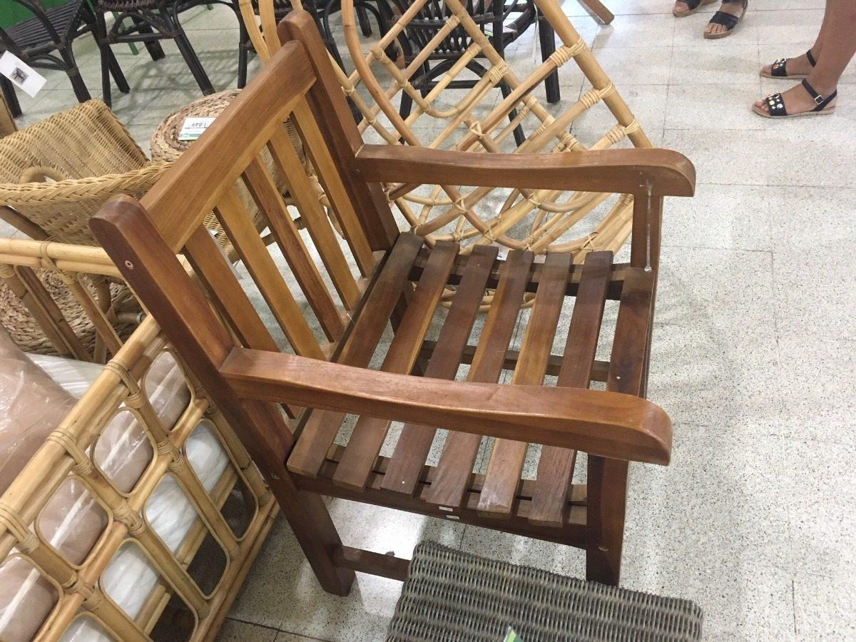 Mueble Banco Jardin Madera Teka 2 000 00 En Mercado Libre # Muebles Teka Jardin