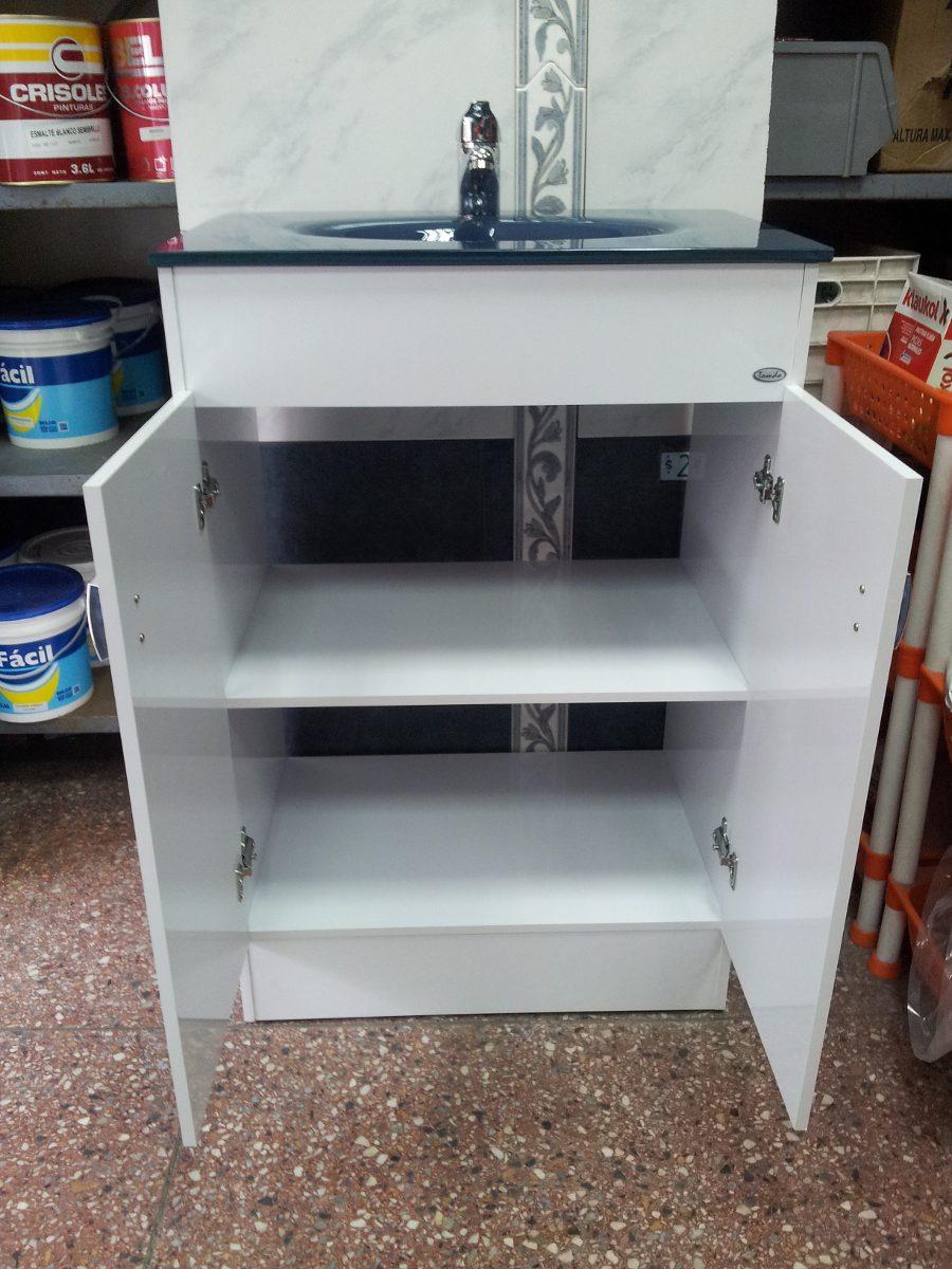 Bachas Para Baño Roca:Mueble Grande Para Baño Bacha Vidrio Azul – $ 5500,00 en Mercado