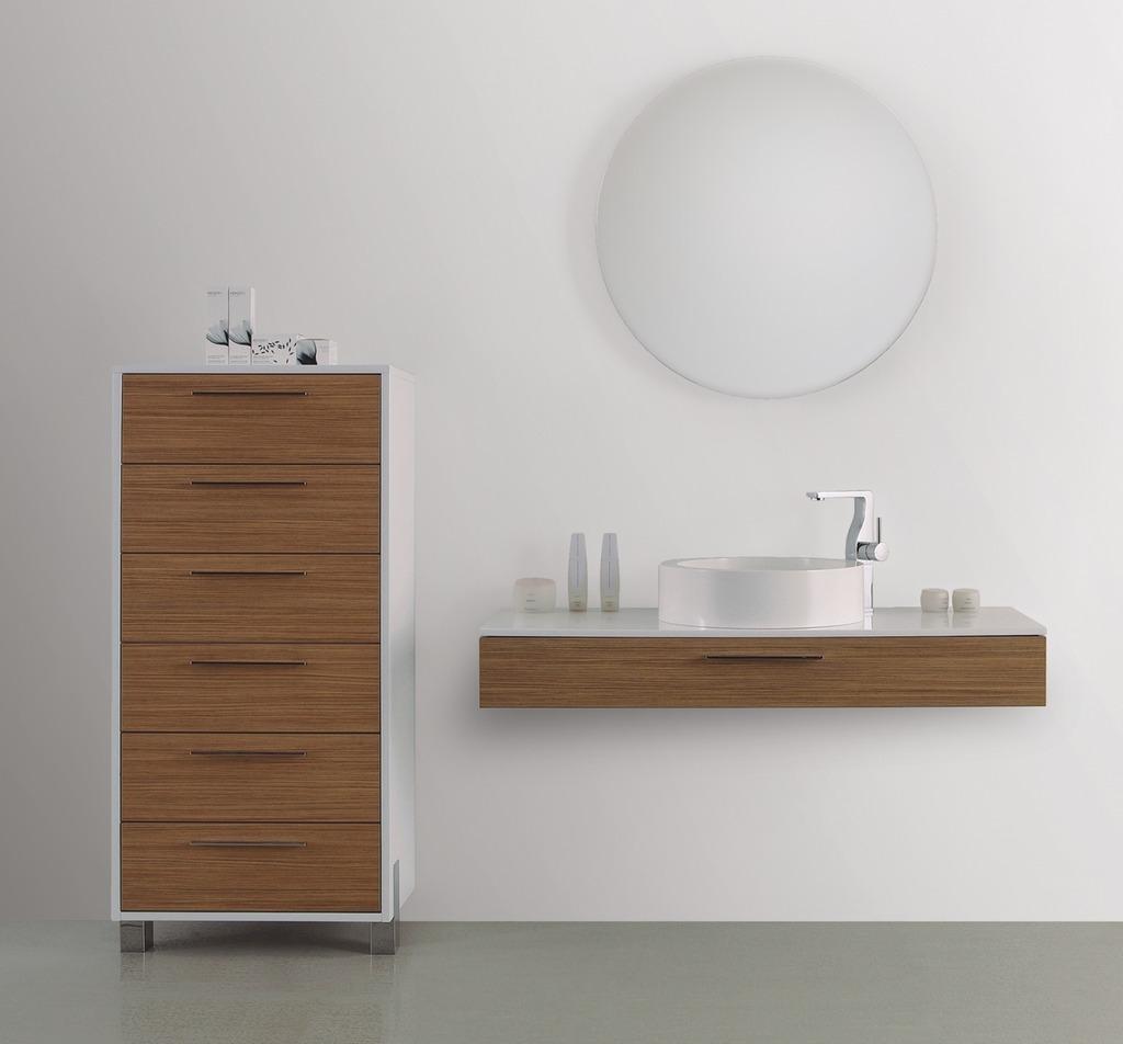 Mueble ba o gabinete lavabo espejo madera gb 2098 29 for Gabinete de almacenamiento de bano de madera