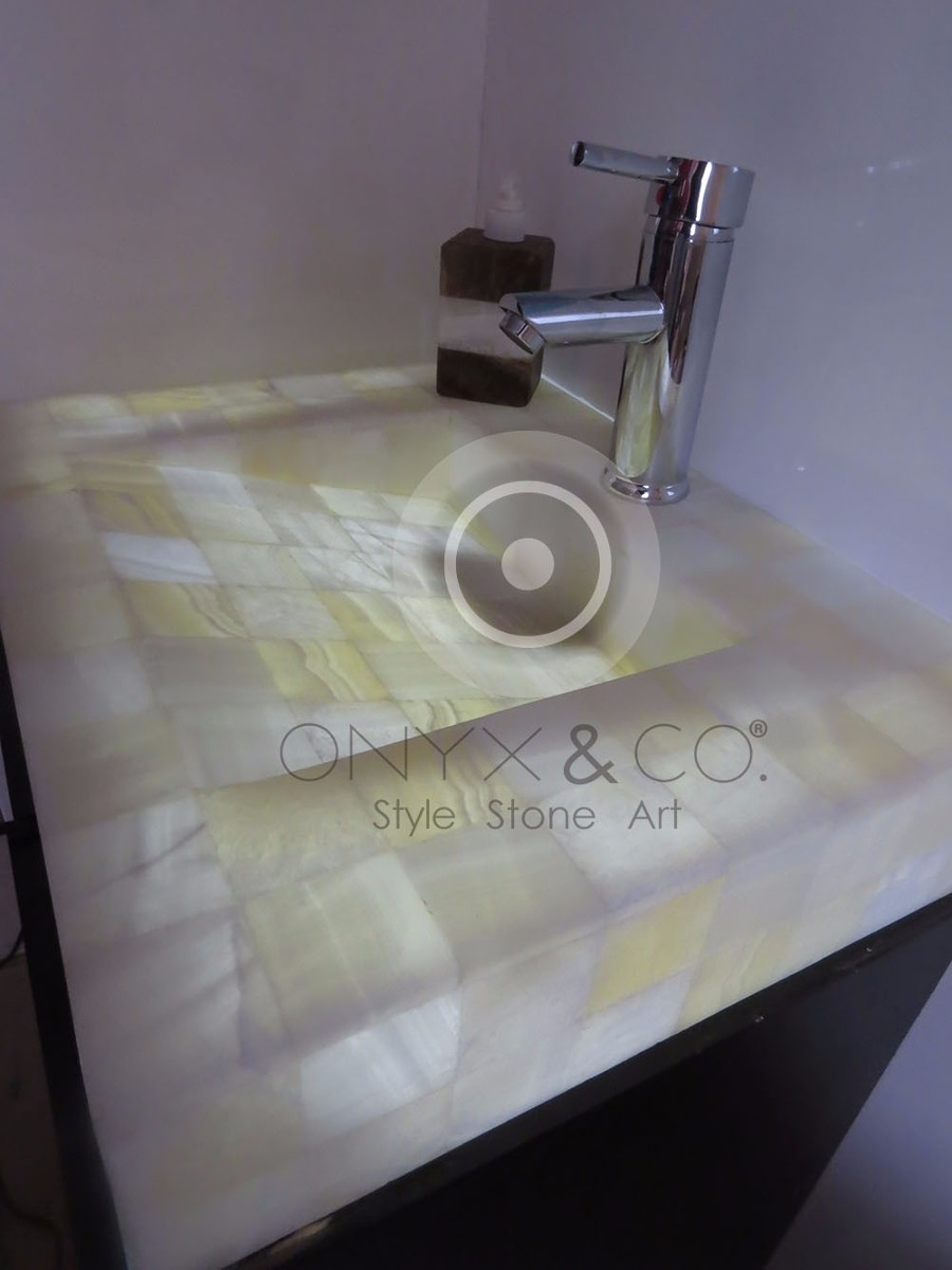 Mueble ba o lavabo minimalista onix m rmol oferta for Oferta mueble bano