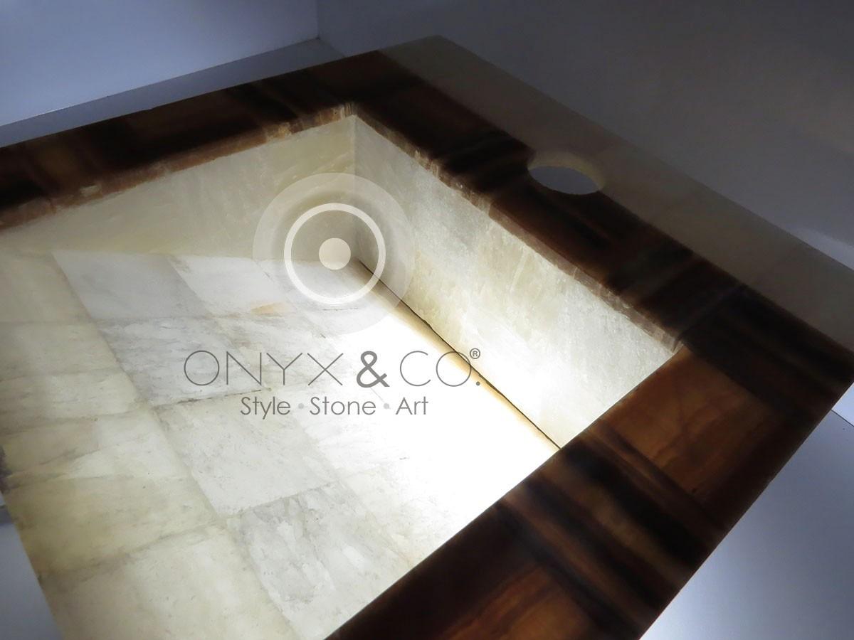 Mueble ba o lavabos ovalin onix marmol minimalista moderno for Mueble bano minimalista