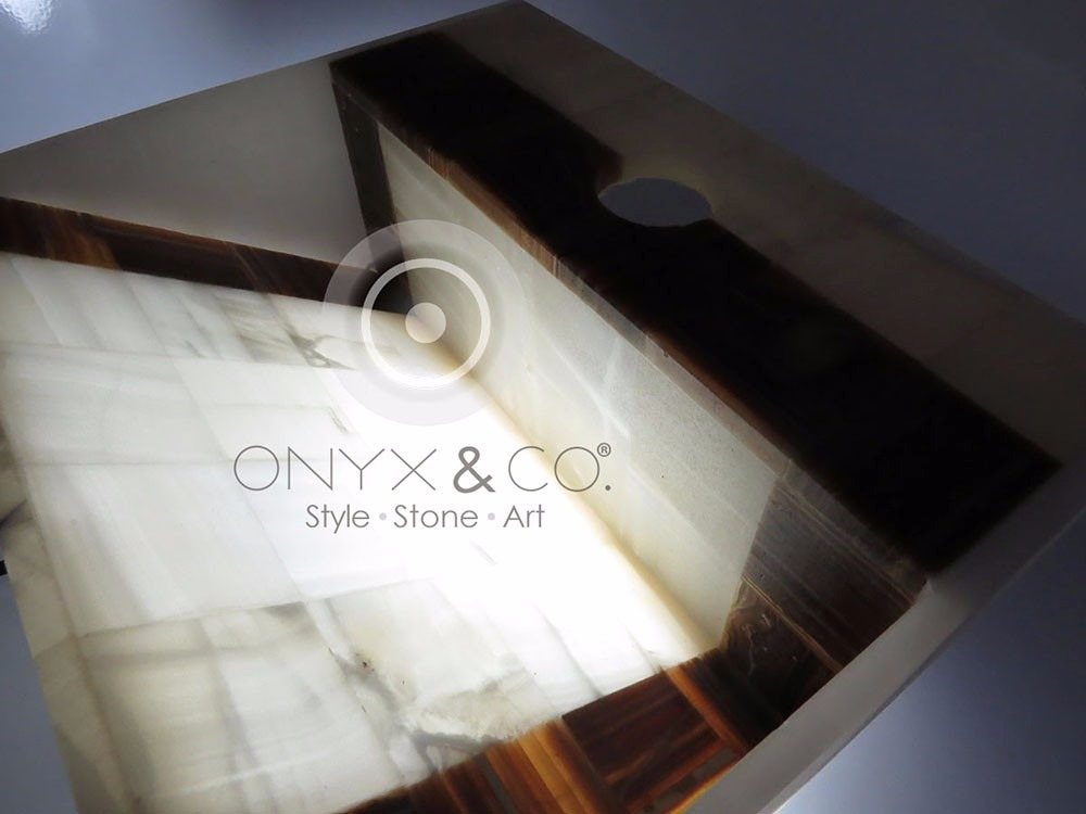 Mueble Ba O Lavabos Ovalin Onix Marmol Minimalista Moderno