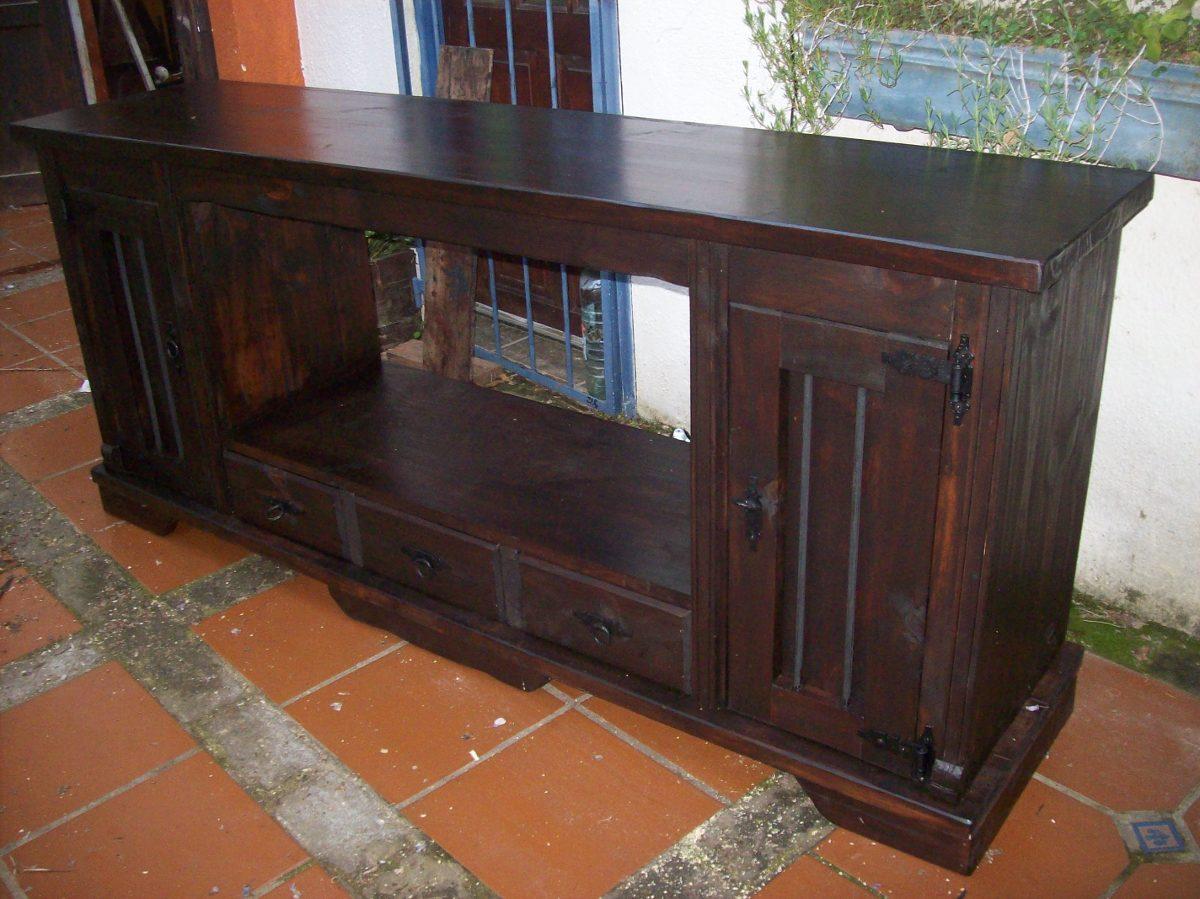 Mueble ba o madera maciza para bacha en - Mueble de bano madera ...