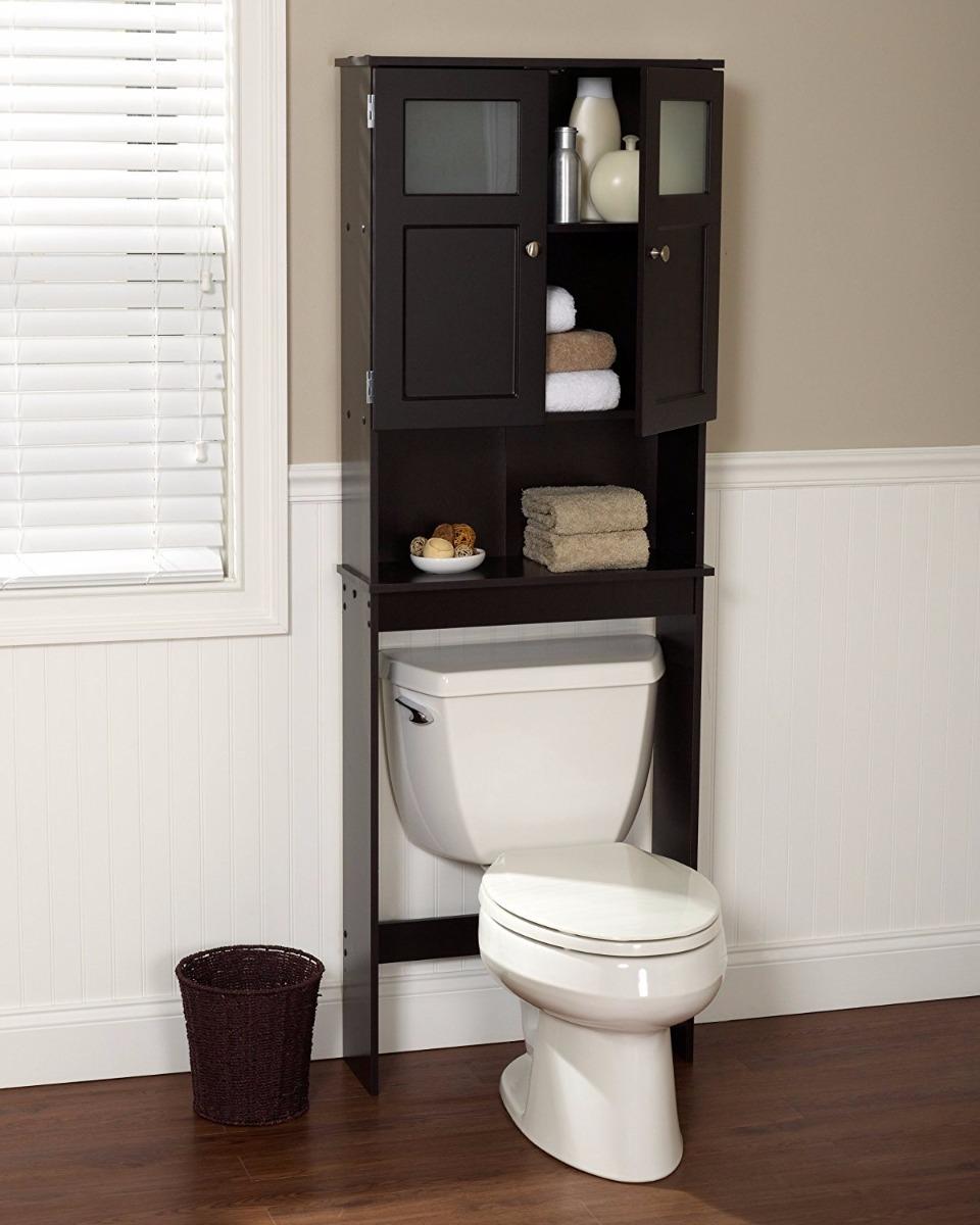 Mueble ba o puertas con cristal blanco o cafe estanteria - Muebles para sanitarios ...