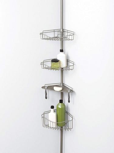 mueble baño repisa esquinero organizador tensión  zenna h0me