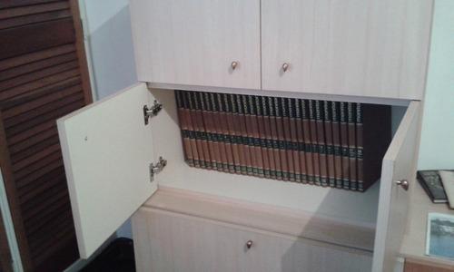 mueble / bar beige de mdf modular con espejo,  es multiuso.