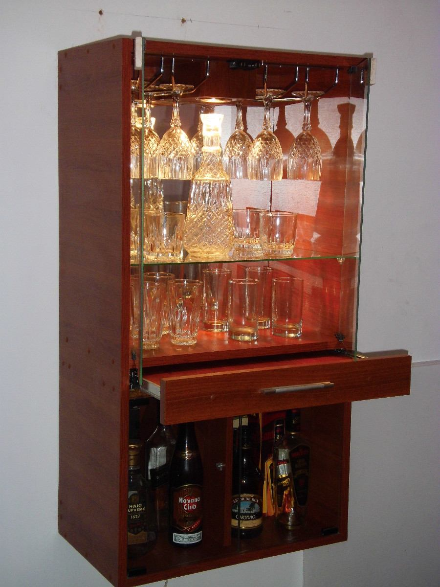 Mueble bar de melamina s 299 00 en mercado libre for Bar licorera de madera para sala