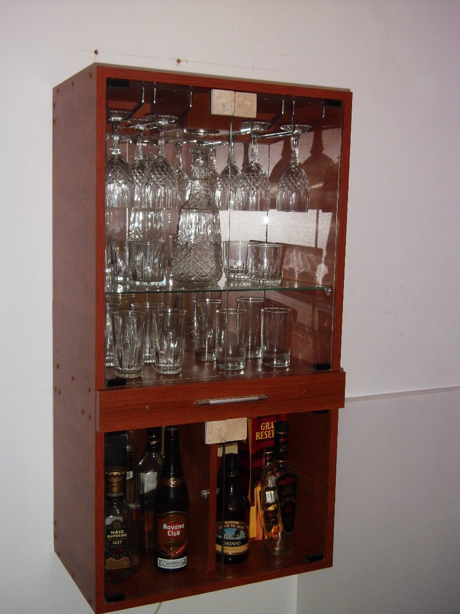Mueble bar de melamina s 299 00 en mercado libre for Muebles para resto bar