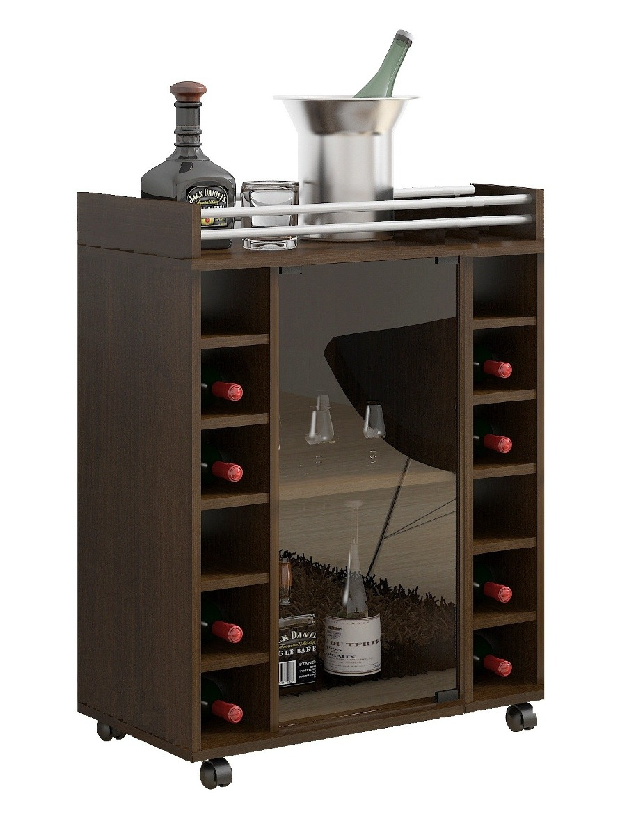 Mueble bar doble cava v2 nor moveis en for Muebles para bares pequenos