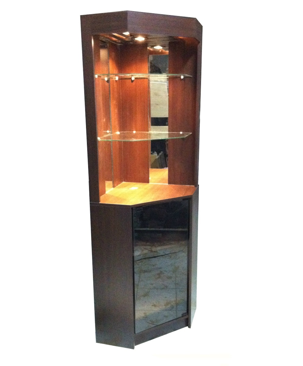 Mueble bar esquinero 1 9m lux nor moveis en for Muebles para bares pequenos
