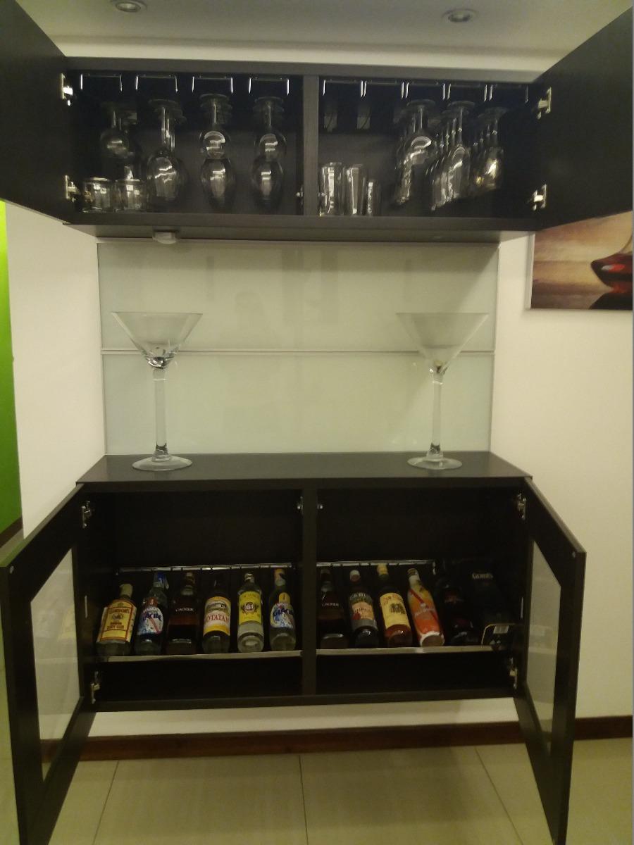 Mueble Bar Licorera De Pared Con Paneles De Vidrio Bs 74 500  # Muebles Licoreras Pared