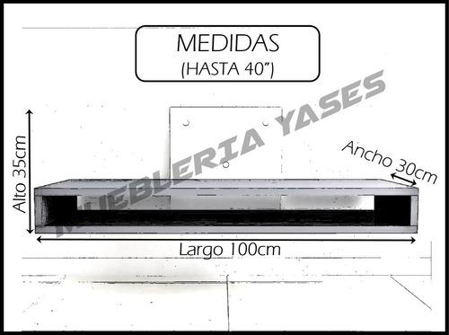 mueble base tv lcd plasma minimalista aereo moderno hasta 40