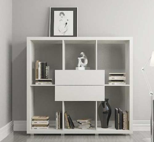 mueble biblioteca ceuta blanca - ikean
