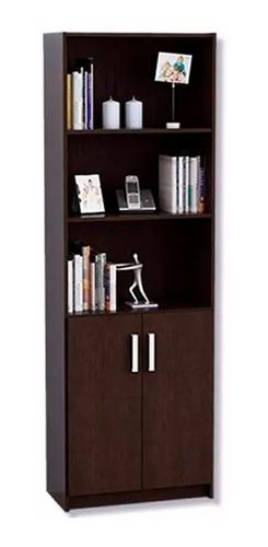 mueble biblioteca estantería con 2 puertas y estantes