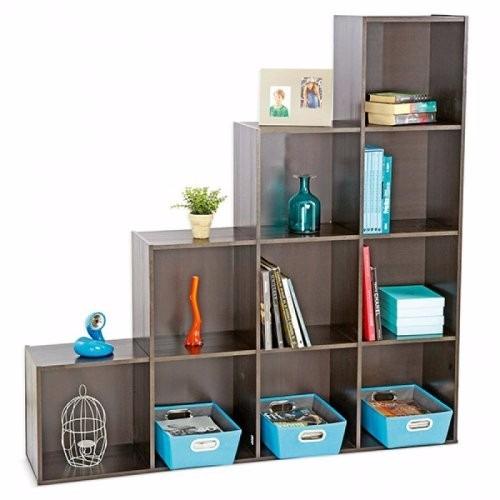 Mueble biblioteca librero estante con repisas de for Mueble de 5 repisas