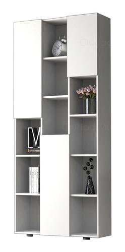 mueble biblioteca moderna con 3 puertas 189cm alto