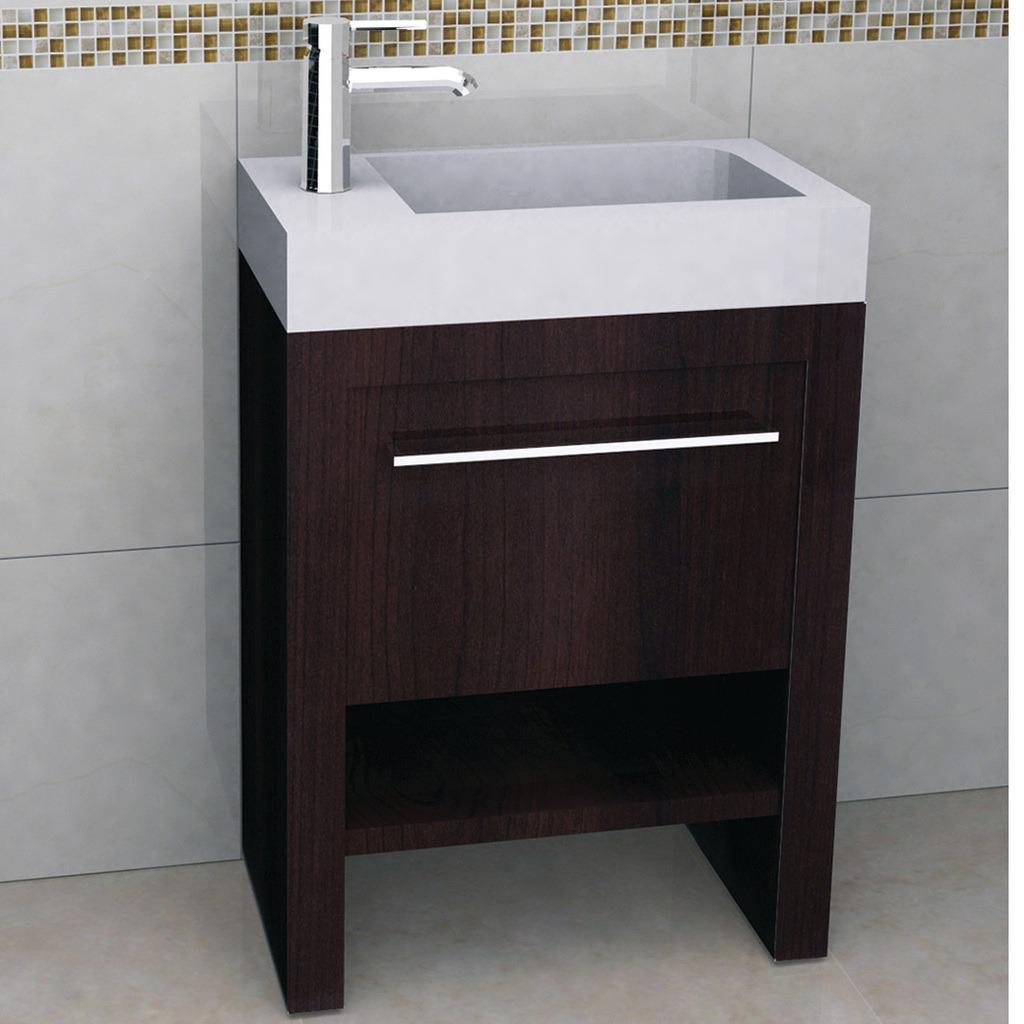 Mueble bilbao 60 cerezo con lavamanos y espejo 7 968 - Muebles para lavamanos ...