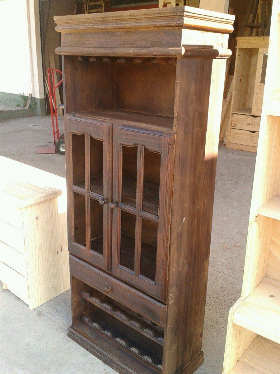 Mueble Bodeguero De Pino Teñido - $ 3.600,00 en Mercado Libre
