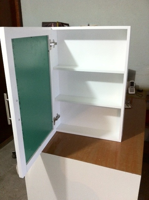 Mueble botiquin con espejo y puerta habatible para ba o - Espejos de bano con armario ...