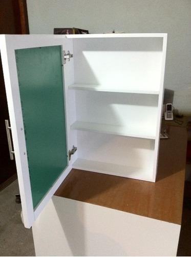 Mueble botiquin con espejo y puerta habatible para ba o for Mueble esquinero bano
