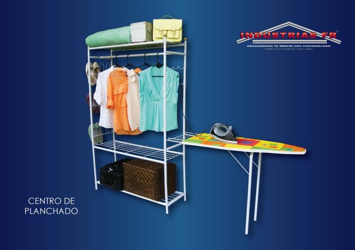 Mueble burro para planchar con colgador de ropa y zapatera for Colgador ropa pared