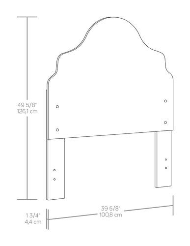 mueble cabecera para cama color blanca 419592