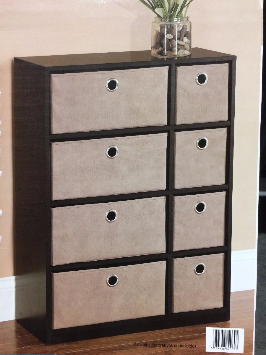 Mueble cajonera de madera de 8 gavetas 80cm 1 for Cajones de madera para muebles