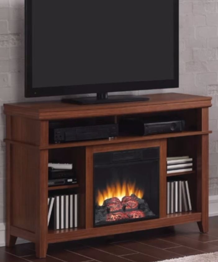 Mueble calefactor chimenea el ctrica 121cm caoba 6 en mercado libre - Mueble para chimenea electrica ...