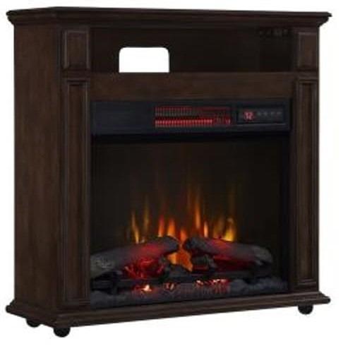 mueble calefactor chimenea eléctrica 80cm -cuarzo infrarrojo